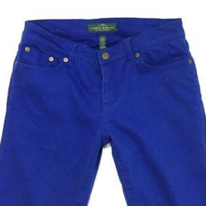 Ralph Lauren Royal Blue Modern Straight Fit Jeans